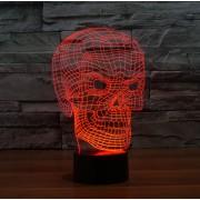 Lampe de bureau 3D Tête de mort