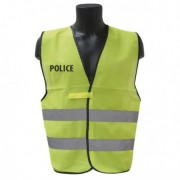 GILET FLUO HAUTE VISIBILITE POLICE
