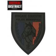 Ecusson PVC Brigade équestre - Basse Visibilité POLICE MUNICIPALE