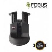 Double porte chargeur fixation ceinture tactique et rotatif pour 9mm