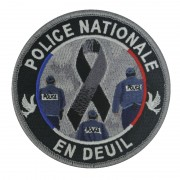 Ecusson POLICE NATIONALE EN DEUIL
