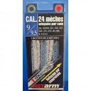 Blister 24 mèches mèches bleues pour calibre 9 mm