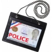 Porte-carte tour de cou Police