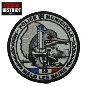 Ecusson Police Municipale Malo Les Bains 59