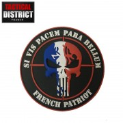 Ecusson PVC PUNISHER FRENCH PATRIOT SI VIS PACEM PARABELLUM