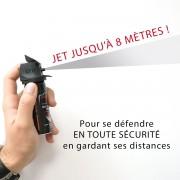 AEROSOL DE DEFENSE GEL POIVRE A JET LONGUE DISTANCE