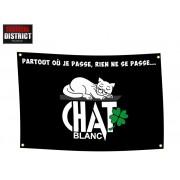 Drapeau Chat Blanc