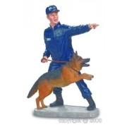 Figurine POLICIER AVEC CHIEN BRIGADE CANINE ref 038