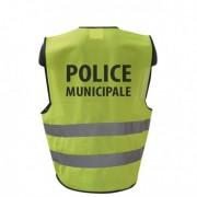GILET FLUO HAUTE VISIBILITE POLICE MUNICIPALE