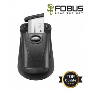 Porte chargeur simple polymere retention passive ajustable