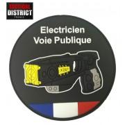 Ecusson Electricien de Voie Publique PVC
