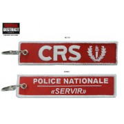 Porte-clés brodé CRS POLICE NATIONALE