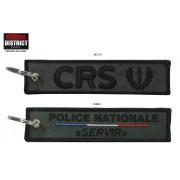 Porte-clés brodé CRS POLICE NATIONALE basse visibilite