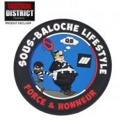 Ecussons PVC Police Sous-Baloche Lifestyle - Sous brigadier de police humour fun