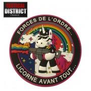 Ecussons PVC Licorne, fun humour, forces de l'ordre, police, gendarmerie