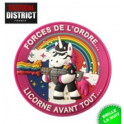 Ecussons PVC Licorne phosphorescent, fun humour, forces de l'ordre, police, gendarmerie