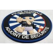 Ecussons PVC Police ADS - Adjoint de sécurité fun