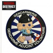 Ecussons PVC Police GAV - Gendarme Adjoint Volontaire
