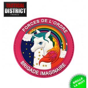 Ecussons PVC Licorne brigade imaginaire phosphorescent, fun humour, forces de l'ordre, police, gendarmerie