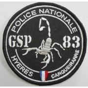 Ecusson Police GSP HYERES CARQUEIRANNE