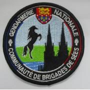 Ecusson brodé Gendarmerie SEES
