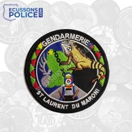 Ecusson brodé Gendarmerie St Laurent du Maroni