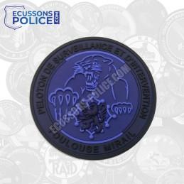 Ecusson PVC Gendarmerie PSIG Toulouse Mirail BLEU