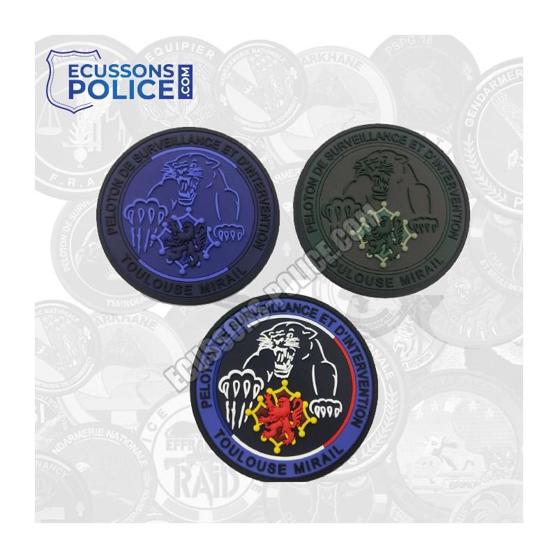PACK 3 Ecussons PVC Gendarmerie PSIG Toulouse Mirail