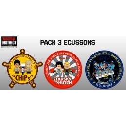 Pack 3 écussons tv/ciné