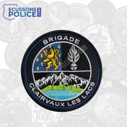 Ecusson brodé Gendarmerie Clairvaux les lacs