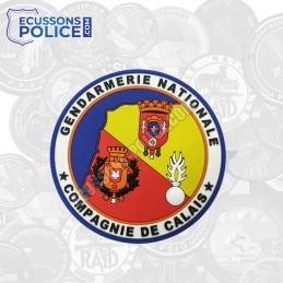 Ecusson PVC Gendarmerie Compagnie de Calais