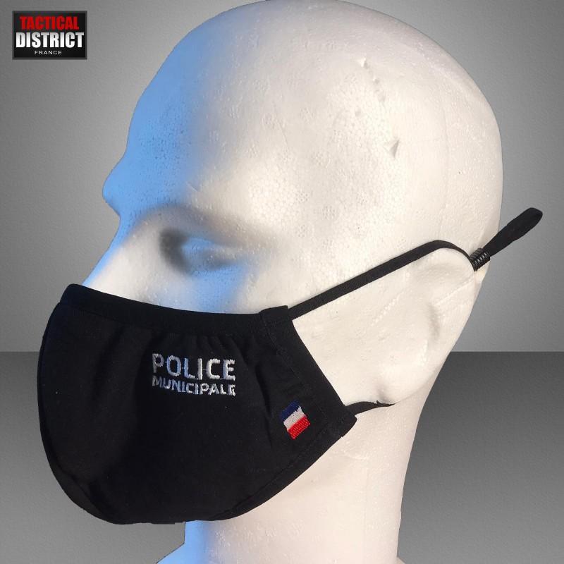 Masque en tissu police municipale
