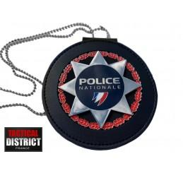 plaque etoile police nationale france ceinture et tour de cou