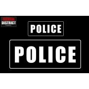 Bandes d'identification PVC - POLICE - 3 Couleurs