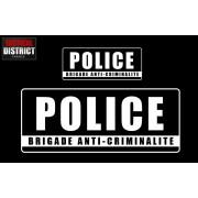 Bandes d'identification PVC - POLICE - BAC - 3 Couleurs
