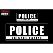 Bandes PVC - POLICE - BRIGADE CANINE- 3 Couleurs