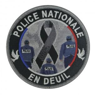 Ecusson POLICE NATIONALE EN DEUIL
