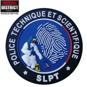 Ecusson PTS - SLPT bleu PVC