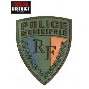 Ecusson PVC Police Municipale Basse visibilité 2