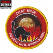 Ecusson CHAT NOIR Pompier