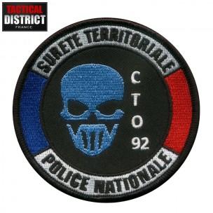 Ecusson Police Sûreté Territoriale - CTO 92