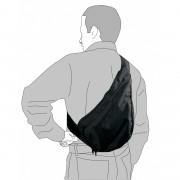 Sacoche bandoulière pour arme noir