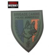 Ecusson PVC Brigade Canine - Basse Visibilité POLICE MUNICIPALE