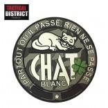 Ecusson PVC Chat Blanc