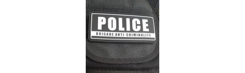 Bandes d'identification gilet / combinaison POLICE